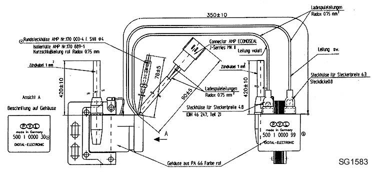 Anschlussplan Zündspule